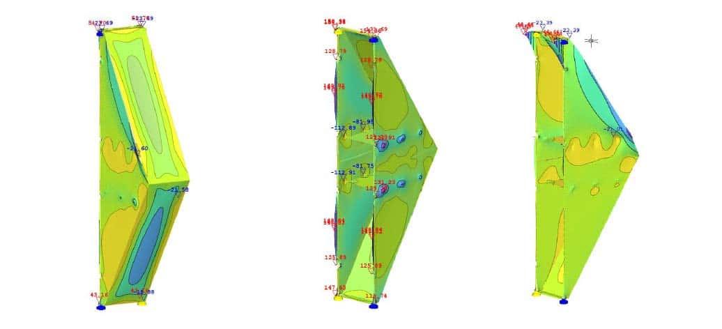 симулация на ветрови натоварвания на фасадни елементи