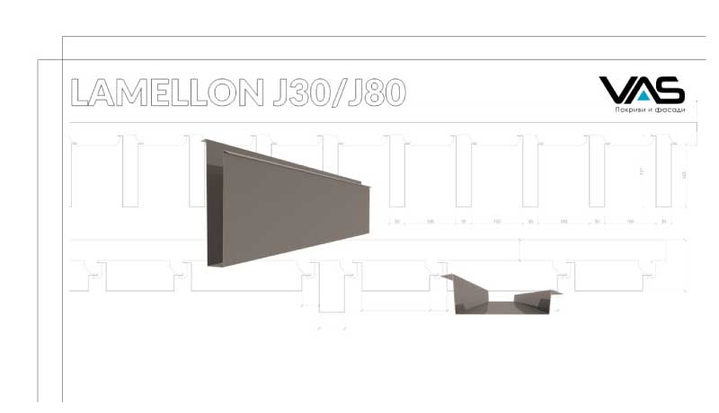 LAMELLON J30 e продуктов бранд на VAS за жалузийни окачени тавани