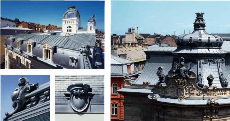 покриви и орнаменти от цинкова ламарина